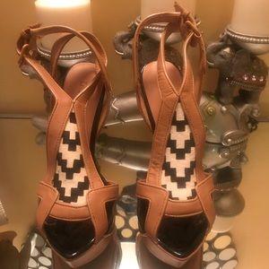 L.A.M.B. Platform heels.